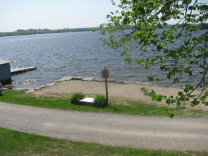 150 feet of beach front on Cameron Lake